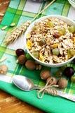 Pequeno almoço com musli e uvas Foto de Stock Royalty Free