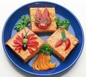 Pequeno almoço da criança serida agradável Fotografia de Stock Royalty Free