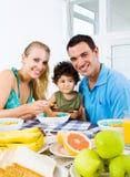 Pequeno almoço da família Imagem de Stock