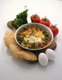 Pequeno almoço da omeleta da boa manhã Foto de Stock