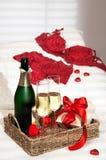 Pequeno almoço de Champagne Imagens de Stock