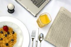 Pequeno almoço de funcionamento Imagem de Stock Royalty Free