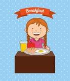 Pequeno almoço delicioso ilustração stock