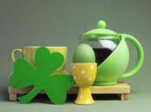 Pequeno almoço do dia de St Patrick Fotografia de Stock Royalty Free