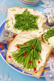 Pequeno almoço do Natal para a criança Fotos de Stock Royalty Free