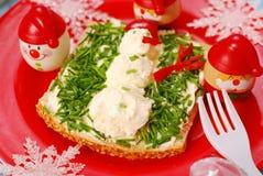 Pequeno almoço do Natal para a criança Fotos de Stock
