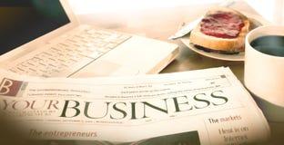 Pequeno almoço do negócio Imagens de Stock