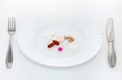 Pequeno almoço dos comprimidos fotografia de stock royalty free