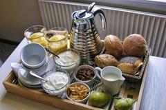 Pequeno almoço em Odense, Dinamarca, agosto 2006 foto de stock