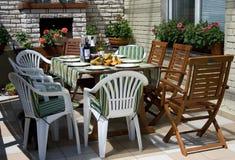 Pequeno almoço em um terraço Fotografia de Stock