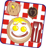 Pequeno almoço em uma pessoa ilustração stock