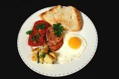 Pequeno almoço entusiasta Imagens de Stock Royalty Free