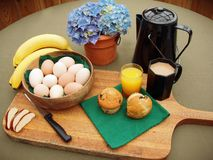 Pequeno almoço fresco da exploração agrícola Imagem de Stock