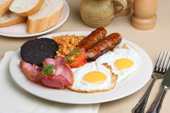 Pequeno almoço fritado inglês cheio fotografia de stock royalty free