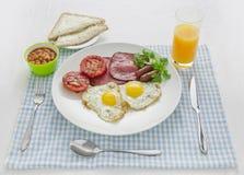 Pequeno almoço grande e cheio Fotografia de Stock