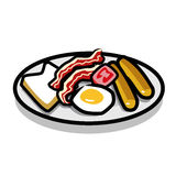 Pequeno almoço inglês ilustração do vetor