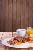 Pequeno almoço inglês cheio Fotografia de Stock Royalty Free