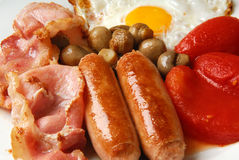 Pequeno almoço inglês tradicional. Imagens de Stock