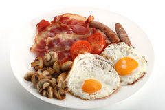 Pequeno almoço inglês tradicional Fotografia de Stock Royalty Free