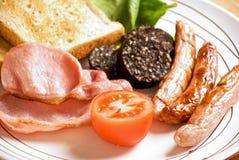 Pequeno almoço irlandês cheio Fotografia de Stock