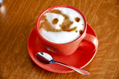 Pequeno almoço italiano do cappuccino imagem de stock
