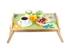 Pequeno almoço na cama. foto de stock royalty free