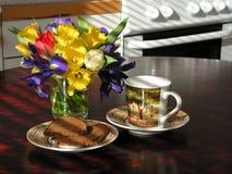Pequeno almoço na cozinha Foto de Stock Royalty Free