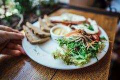 Pequeno almoço na placa Foto de Stock Royalty Free