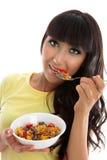 Pequeno almoço nutritivo saudável foto de stock