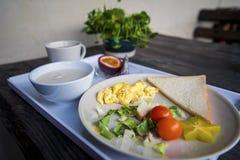 Pequeno almoço ocidental Fotografia de Stock