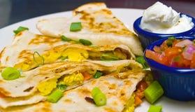 Pequeno almoço Quesadilla Fotos de Stock