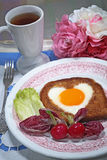Pequeno almoço romântico Foto de Stock