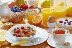 Pequeno almoço saudável imagens de stock