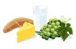 Pequeno almoço saudável ilustração do vetor