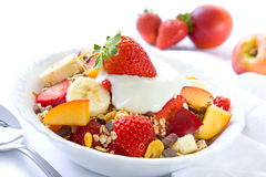 Pequeno almoço saudável com cereais fotos de stock royalty free
