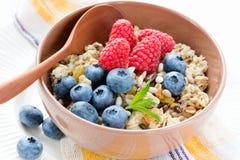 Pequeno almoço saudável do vegetariano Imagens de Stock