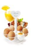 Pequeno almoço saudável fresco com ovos Imagem de Stock Royalty Free