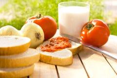 Pequeno almoço saudável tradicional Foto de Stock
