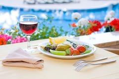 Pequeno almoço serido Foto de Stock Royalty Free