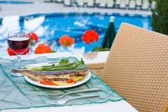 Pequeno almoço serido Fotografia de Stock Royalty Free