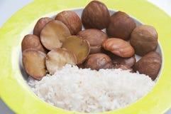 Pequeno almoço tailandês do alimento de Luk Neang Fotografia de Stock