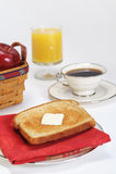 Pequeno almoço do café do suco do brinde Fotos de Stock Royalty Free