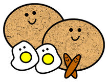 Pequeno almoço feliz Imagem de Stock