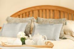 Pequeno almoço na cama Foto de Stock
