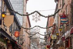 Pequeno Champlain Cidade de Quebec Fotografia de Stock