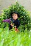 Pequeno menina na natureza Imagem de Stock