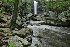 Pequeno parque estadual Cedar Falls Cedar Creek de brim Foto de Stock Royalty Free