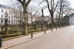 Pequeno quadrado de Sablon em Bruxelas, Bélgica. Imagens de Stock