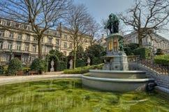 Pequeno quadrado de Sablon em Bruxelas, Bélgica. Foto de Stock