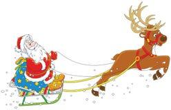 Pequeno trenó de Santa Claus Imagens de Stock